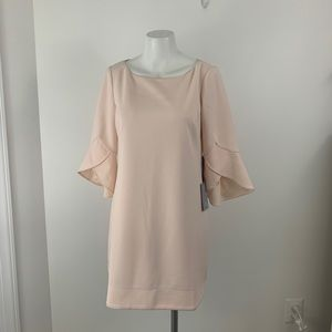 Vince Camuto Petite Tulip Bell Sleeve Dress Pink